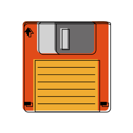 Old diskette database storage icon vector illustration graphic design
