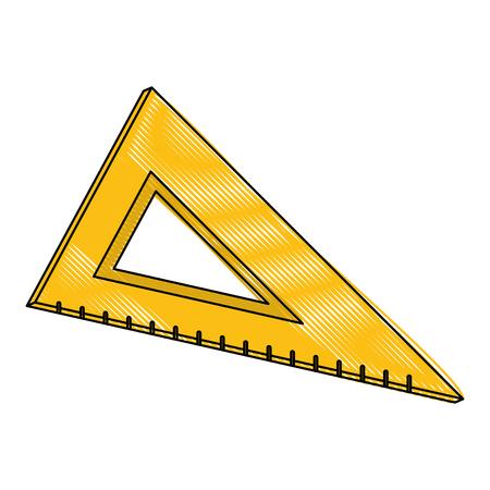 School triangle ruler icon vector illustration graphic design Фото со стока - 89761750