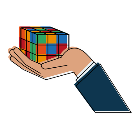 Rubik cube puzzle icon vector illustration graphic design Vector Illustration