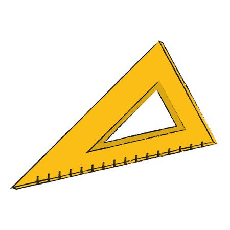 School triangle ruler icon vector illustration graphic design