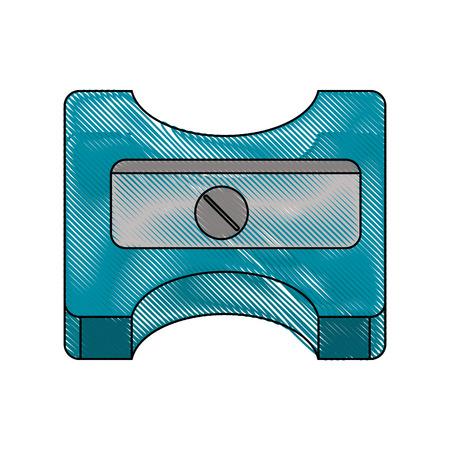 Pencil sharpener utensil icon vector illustration graphic design