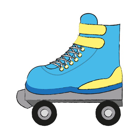Roller skate isolated icon vector illustration graphic design