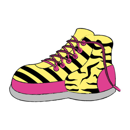 young girl feet: Women fashion boot icon vector illustration graphic design