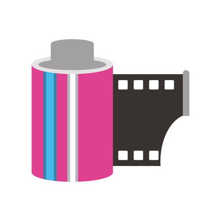 photographic roll isolated icon vector illustration graphic design