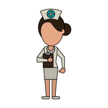 Nurse faceless avatar icon vector illustration graphic design Illustration