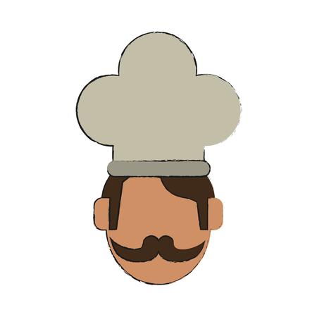 Chef face symbol icon vector illustration graphic design