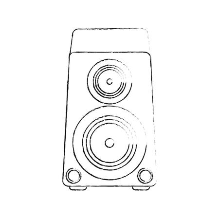 Music bass speaker icon vector illustration graphic design