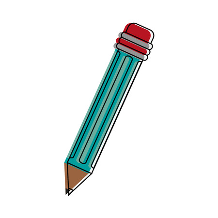 Wooden pencil symbol icon vector illustration graphic design