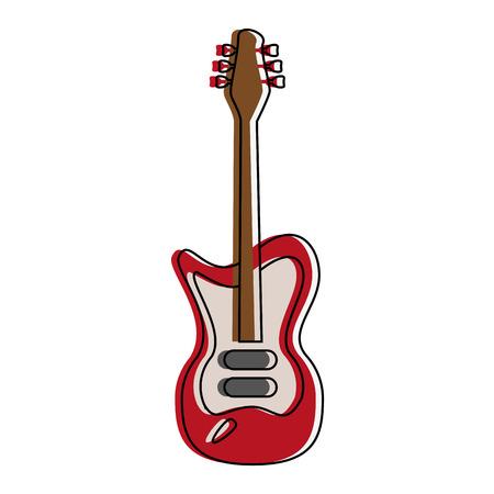 Electric guitar instrument icon vector illustration graphic design
