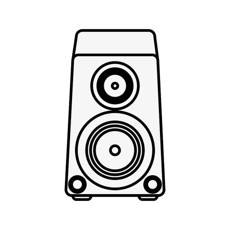 connectors: Music bass speaker icon vector illustration graphic design