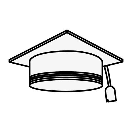 Graduation hat symbol icon vector illustration graphic design