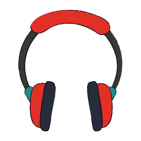 Music headphones device icon vector illustration graphic design Illustration
