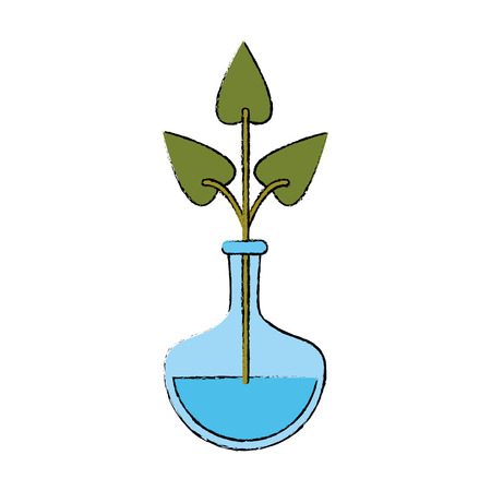 hydroponic plant in container icon vector illustration graphic design