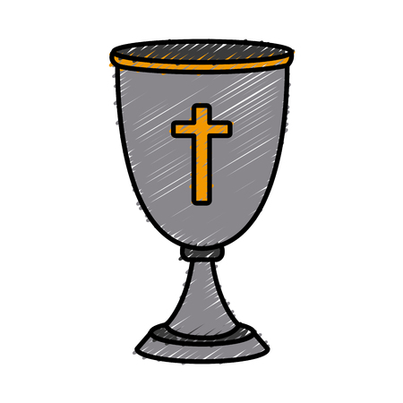 Chalice cup symbol icon vector illustration graphic design