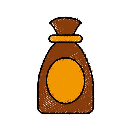 Sack bag isolated icon vector illustration graphic design Illustration