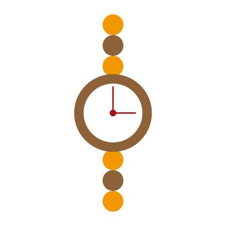 chrome: Women vintage wristwatch icon vector illustration graphic design