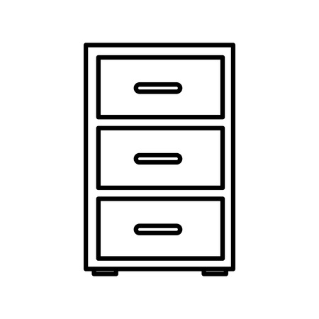drawer clipart black and white. office cabinet isolated icon vector illustration graphic design drawer clipart black and white