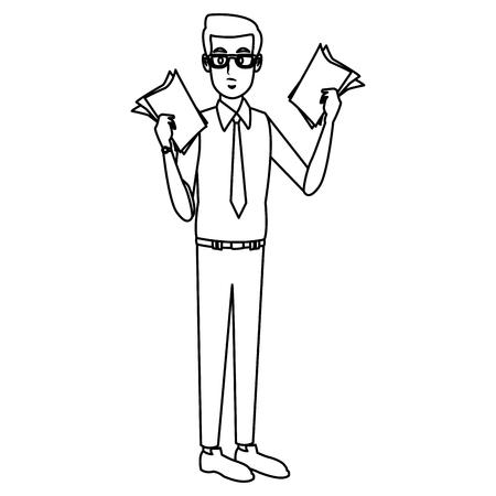 Businessman executive cartoon icon. Illustration
