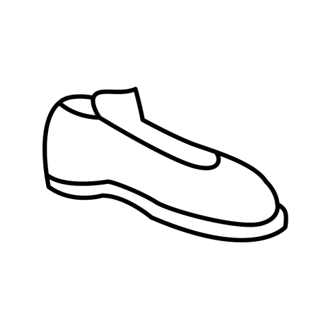Male elegant shoe icon. Иллюстрация