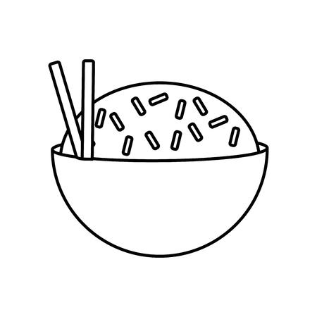 Delicious rice food icon vector illustration graphic design