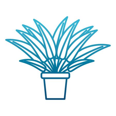 Plant in vase icon vector illustration graphic design