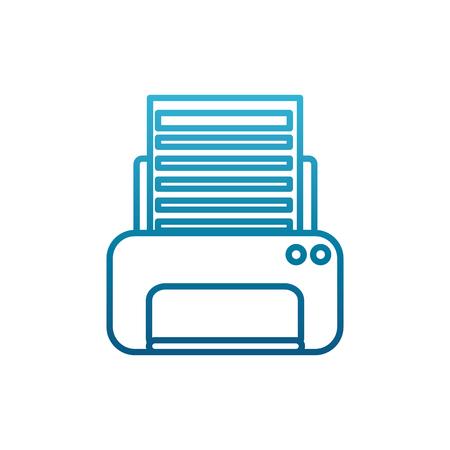 Office printer device icon vector illustration graphic design Ilustração