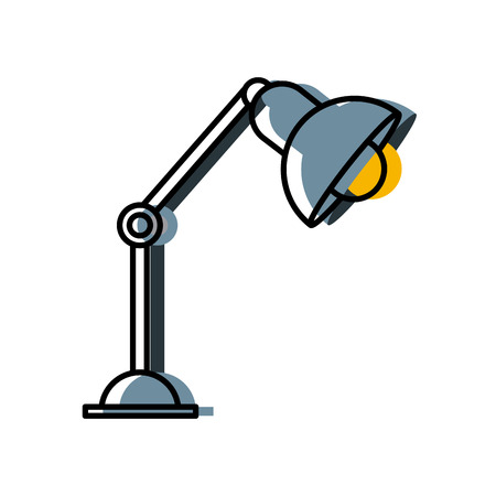 Office light lamp on desk icon vector illustration graphic design