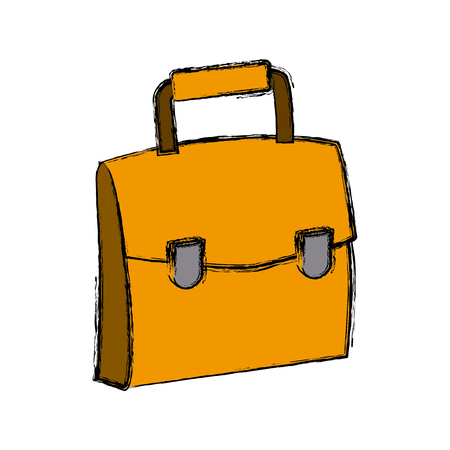 Business briefcase isolated icon vector illustration graphic design Illustration