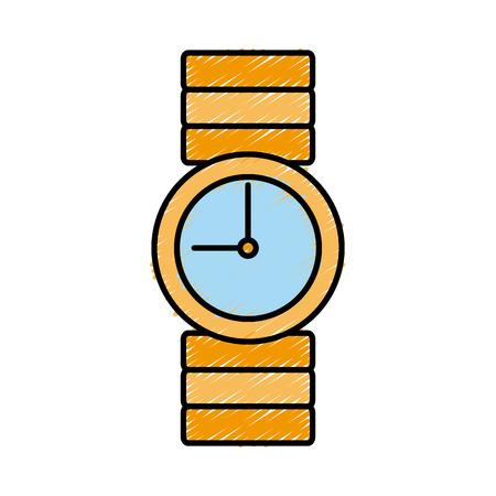 fashion vintage wristwatch icon vector illustration graphic design