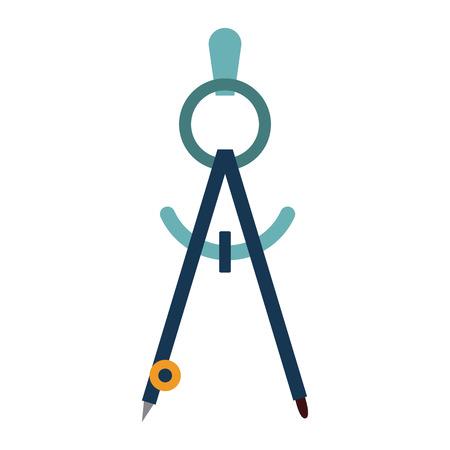 Geometric compass tool icon vector illustration graphic desgin