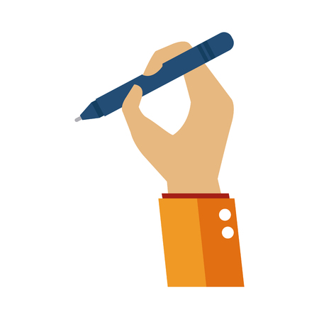 Hand holding a pen icon vector illustration graphic desgin Illustration