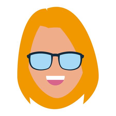 Woman with sunglasses icon vector illustration graphic desgin Illustration