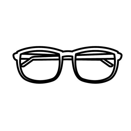 Lens glasses isolated icon vector illustration graphic desgin Illustration
