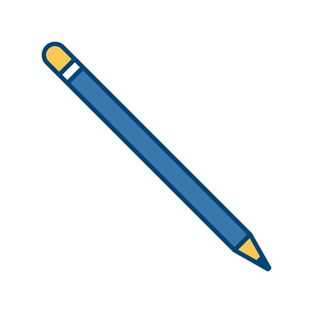 secretarial: Wooden pencil isolated icon vector illustration graphic design