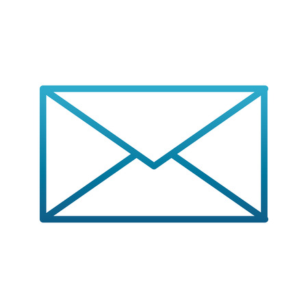 Envelope closed isolated icon vector illustration graphic design Иллюстрация