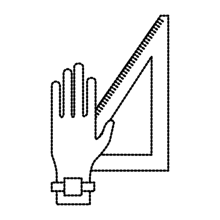 Hand with ruler icon vector illustration graphic design Иллюстрация