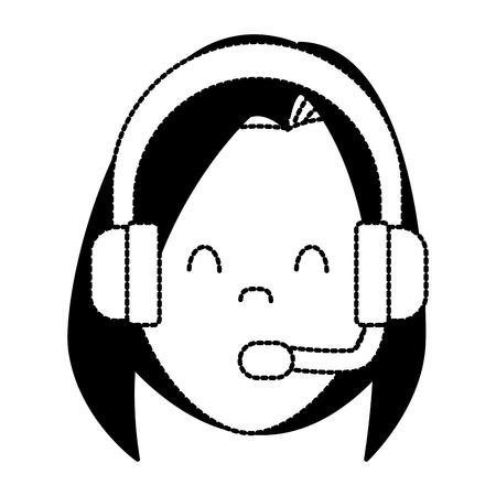 Call center woman avatar icon vector illustration graphic design