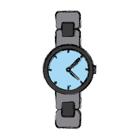 hands  hour: Vintage wristwatch accesorie icon vector illustration graphic design Illustration
