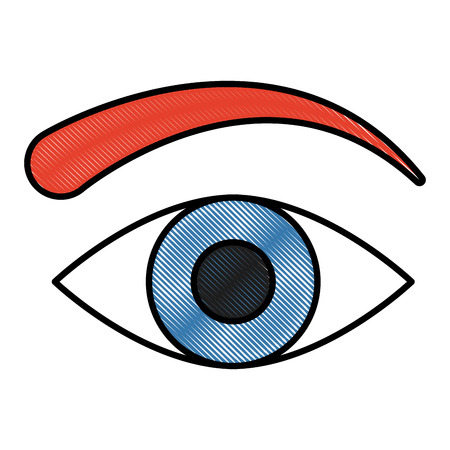 Human eye symbol icon vector illustration graphic design