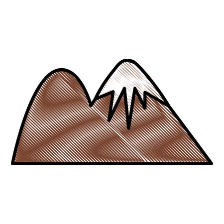 Beautiful mountains landscape icon vector illustration graphic design Illustration