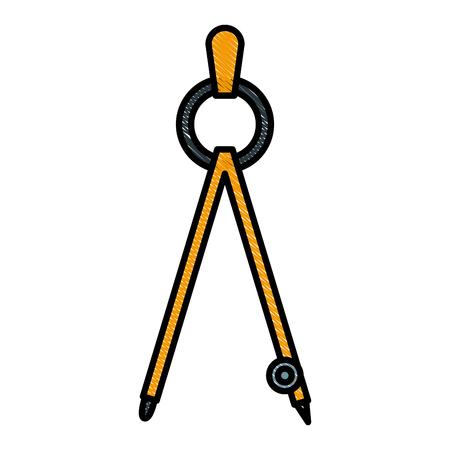 Geometric compass tool icon vector illustration graphic design Illustration