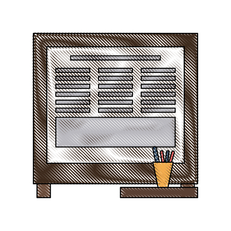 Office cork board icon vector illustration graphic design Illustration