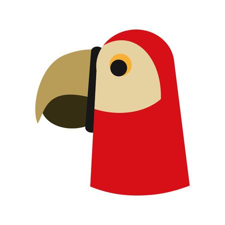 Parrot head cartoon icon vector illustration graphic design