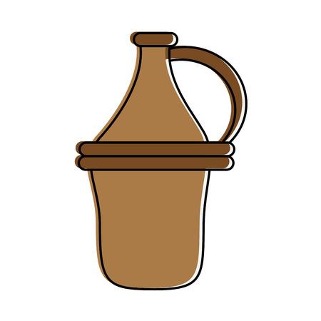 Wine antique jar icon vector illustration graphic design