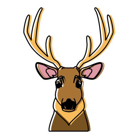 Cute reindeer cartoon icon vector illustration graphic design