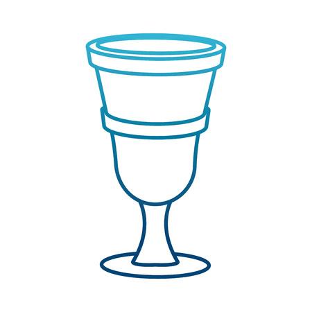 Chalice cartoon isolated icon vector illustration graphic design