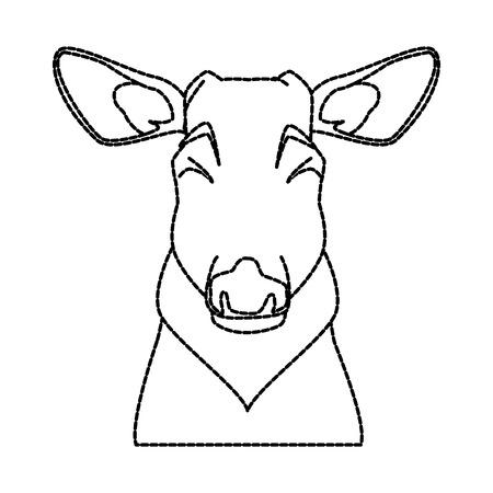 Cute reindeer  icon vector illustration graphic design draw Illustration