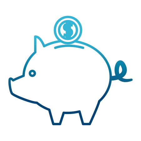 Piggy savings symbol icon vector illustration graphic design Illustration