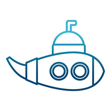 Submarine sea ship icon vector illustration graphic design Illustration