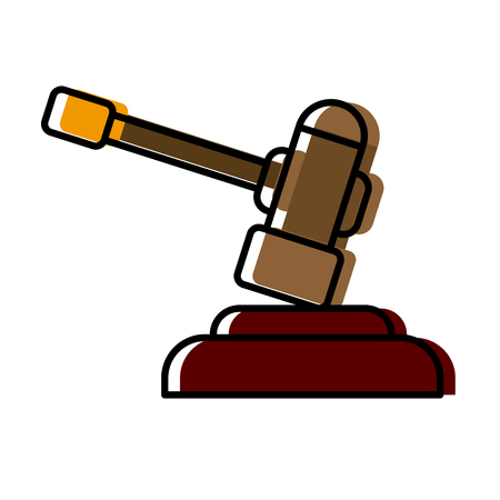 Gavel justice symbol icon vector illustration graphic design